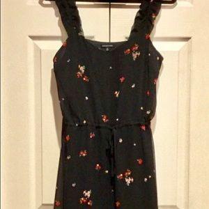 Who What Wear Black floral midi dress